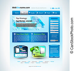 Modern website template with a technology futuristic style,...