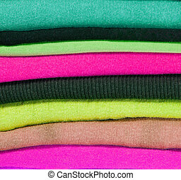 pile of colorful clothes