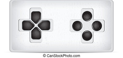 Game pad isolated on a white vector illustration