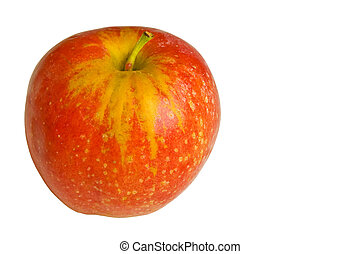 red apple with clipping path