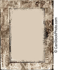 Brownish grungy frame - background