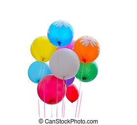 Celebration Balloons Isolated on White Background