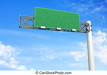 Empty Highway Sign