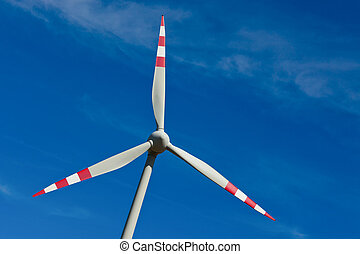pinwheel of a wind power plant for electricity