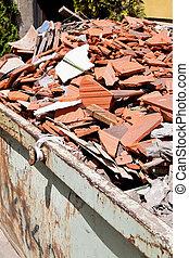 construction debris at a construction site