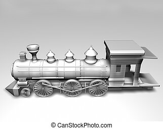 Train on white background