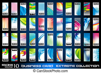 ollection of corporate business cards background - Big...