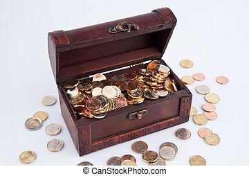 tom, Tillstånd, coffers, skuld, budget