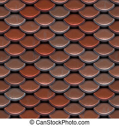 Red Roof Tiles - A texture that looks like roofing tiles or...