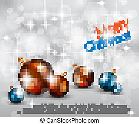 Merry Christmas Elegant Suggestive Background for Greetings...