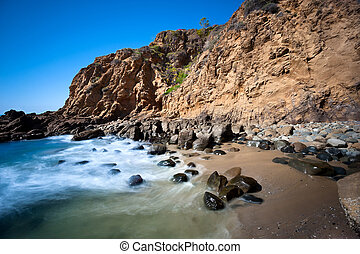 Secluded beach cove