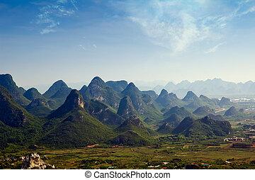 guilin - Beautiful Karst mountain landscape in Yangshuo...