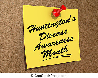 Huntington's Disease Awareness Month - One day Calendar with...