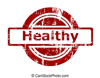 Healthy red stamp