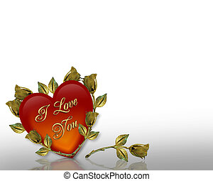 Valentines Day background Hearts - Valentine illustration...
