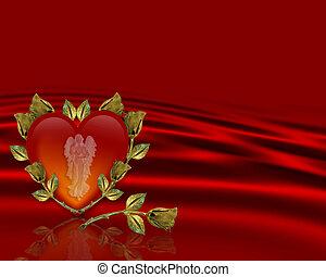 Valentines background Angel Heart