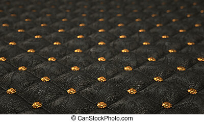 Alligator skin background with pattern and buttons