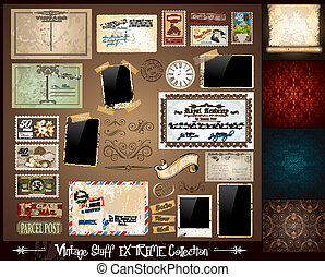 Vintage Stuff Extreme Collection - 3 seamless wallpaper, a...
