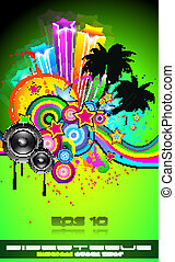 Disco Event Poster for tropical events - Disco Event Poster...