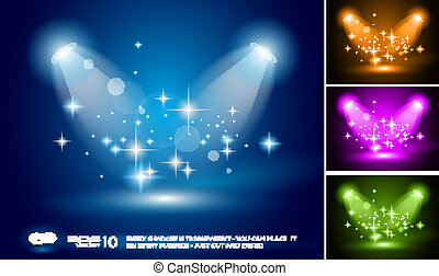 Magic Spotlights backgrounds set - Magic Spotlights with...