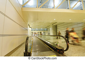 Escalators in the International Airport