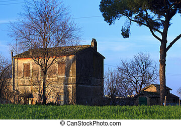 Old house in the park of the Aqueducts, Rome - Italy