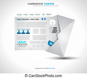 Postage high tech Website - Elegant Design for Business...