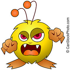 Cute Monster with Clipping Path