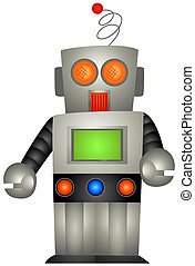 Toy Robot with Clipping Path