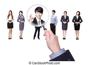 Human resources concept choosing the perfect candidate for...