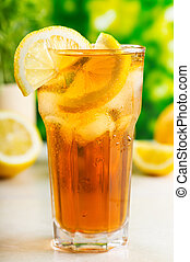 glass of ice tea