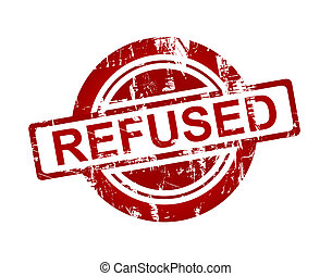 Red refused stamp