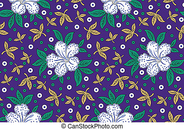 Seamless floral background for fabrics and cloths