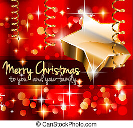 Elegant Classic Christmas Greetings background for flyers,...