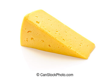 piece of cheese isolated food on white background
