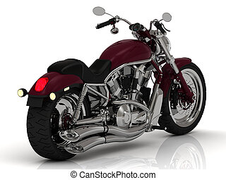 Motorcycle with a chrome engine and exhaust