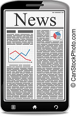 News in Mobile Phone - News on the screen of mobile phone,...