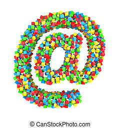 Email sign of colorful cubes