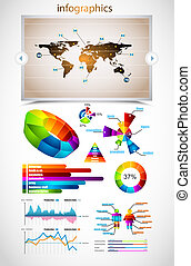 Premium infographics master collection: graphs, histograms,...