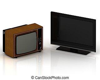 antigas, tv, Novo, LSD, tv