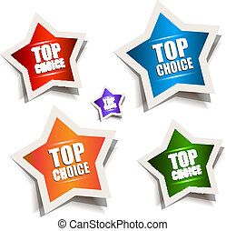 Star bubble speech with Best Choice motive and vibrant...