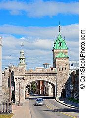 Porte Dauphine in Quebec City - Porte Dauphine gate closeup...