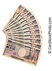 japanese yen bills - bills from japan. japanese yen.