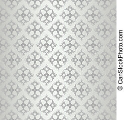 Seamless silver floral wallpaper diamond pattern. This image...