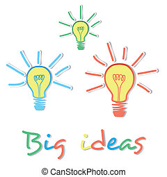 Big Ideas light bulbs eureka moment - Big Ideas creative...
