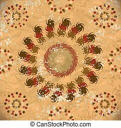 seamless pattern of brown floral