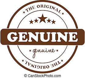 Genuine Stamp - Genuine Product Stamp Isolated On White