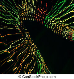 Light Painting - Long-exposed photograph of lights