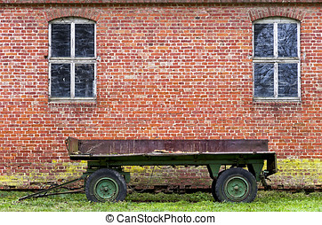Rusty Old Trailer - Countryside idyll of rusty old trailer...
