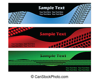 Banner with tire treads - Banner with tire tread designs on...